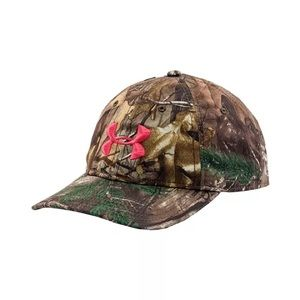 UNDER ARMOUR WOMEN'S CAMO PINK CAP HAT SNAPBACK OS